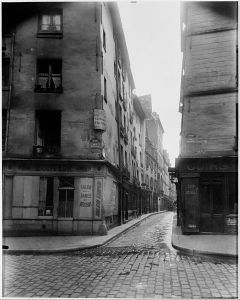 Eugène Atget, Rue Laplace et Rue Valette, Paris, 1926