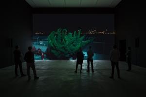 Cyprien Gaillard Nightlife, 2015 3D motion picture, DCI DCP 14:28 min installation view, Cyprien Gaillard:
