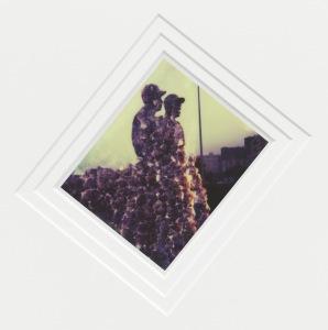 Cyprien Gaillard Sober City (Jackie Robinson & Pee Wee Reese), Detail, 2015 Triple exposure polaroid, mat, aluminium and plexi frame 103 x 73 x 4,5 cm (framed) 40 1/2 x 28 3/4 x 1 3/4 inches (framed) Copyright Cyprien Gaillard Courtesy Sprüth Magers