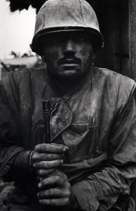Don McCullin Shell Shocked US Marine, Vietnam, Hue, 1968, printed 2013 © Don McCullin, courtesy Hamiltons Gallery, London
