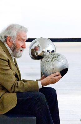 Otto Piene im LWL-Museum für Kunst und Kultur, 2013. Foto: LWL/Neander