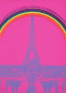 Otto Piene, PARIS, 1969-70, aus der Mappe P A X, Edition Rottloff, Karlsruhe, Deutschland, LWL-Museum für Kunst und Kultur. Foto: LWL/Neander © VG Bild-Kunst, Bonn 2015
