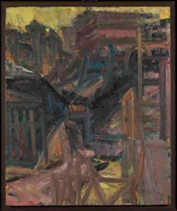 Frank Auerbach  To the Studios, 1979-80 Öl auf Leinwand / Oil paint on canvas 123,2 x 102,6 cm Tate  © Frank Auerbach