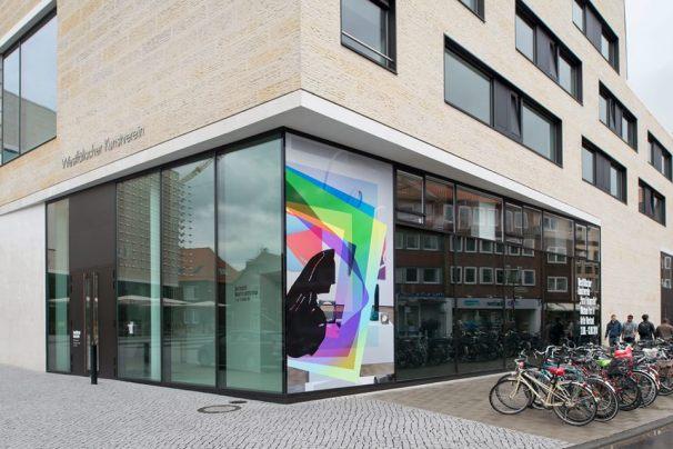 """Artie Vierkant  """"Image Object"""", 2011-andauernd Installationsansicht Westfälischer Kunstverein 2015 Foto: Thorsten Arendt"""