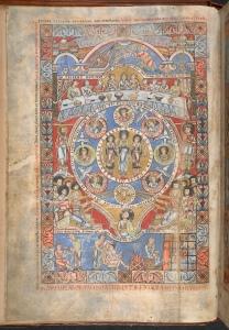 Bibel von Floreffe Einführende Doppelseite zum Buch Hiob, um 1155, London, British Library, Sign. Ad.Ms. 17738, fol. 3v © British Library Board
