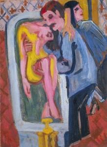 Ernst Ludwig Kirchner, Das Bad des Kranken (Der barmherzige Samariter) um 1917/20, Privatbesitz © Wichtrach/Bern, Galerie Henze-Ketterer