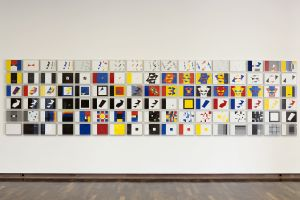 Ulrich Rückriem, Großer Kosmos, 2009 102 Zeichnungen Ausstellungsansicht © Kunsthalle Bielefeld