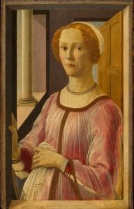 Sandro Botticelli: Portrait einer Dame (Smeralda Bandinelli), 1470-75 Victoria and Albert Museum, London