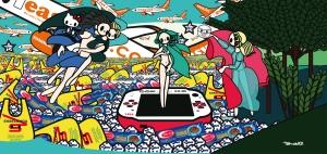 Tomoko Nagao: Botticelli - The Birth of Venus with Baci, Esselunga, Barilla, PSP and EasyJet, 2012 Tomoko Nagao