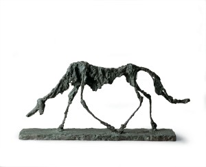 Alberto Giacometti, Le Chien, 1951, Bronze, Collection Fondation Marguerite et Aimé Maeght © Succession Alberto Giacometti (Fondation Alberto et Annette Giacometti, Paris + ADAGP, Paris) 2015