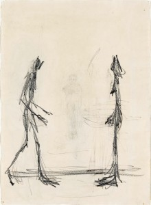 Projet pour un livre VI © Succession Alberto Giacometti (Fondation Alberto et Annette Giacometti, Paris + ADGAP, Paris) 2015