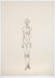 Stehender Akt II, 1961 © Succession Alberto Giacometti (Fondation Alberto et Annette Giacometti, Paris + ADGAP, Paris) 2015