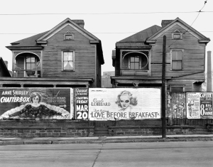 Walker Evans, Houses and Billboards, Atlanta, Georgia 1936 Private Sammlung
