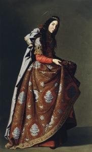 Francisco de Zurbarán, Santa Casilda, ca. 1635, Öl auf Leinwand, 171 x 107 cm, Museo Thyssen-Bornemisza, Madrid, © Museo Thyssen-Bornemisza, Madrid