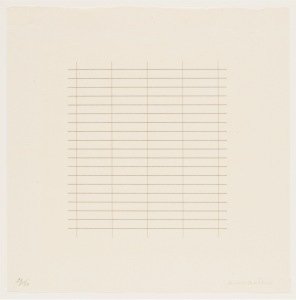 Agnes Martin, On a Clear Day, 1973, Portfolio mit 30 Siebdrucken auf Japanpapier, je 30,5 x 30,5 cm, Courtesy Parasol Press, Ltd., Portland, Oregon, Foto: Courtesy Pace Gallery, © VG Bild-Kunst, Bonn, 2015 Foto: Courtesy Pace Gallery © Kunstsammlung NRW