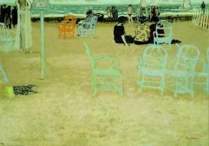 Maurice Brianchon Sur la plage, 1949, Öl auf Leinwand, 65 x 92 cm © Stiftung Situation Kunst