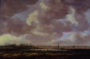 Jan van Goyen Blick über eine weite Flachlandschaft, 1647, Öl auf Holz, 33,5 x 58 cm © Stiftung Situation Kunst