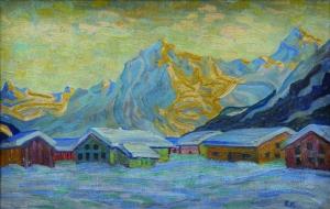 Eberhard Viegener Wintersonne, Klosterplatz, 1914 Öl auf Leinwand, 45,5 x 70 cm © Stiftung Situation Kunst