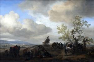 Philips Wouwerman Reisende bei Rast vor tiefer Flusslandschaft, 1649, Öl auf Leinwand, 68 x 98,5 cm © Stiftung Situation Kunst
