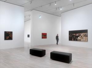 Installationsansicht im K21, Alberto Burri. Das Trauma der Malerei, für die Werke von Alberto Burri: © Fondazione Palazzo Albizzini Collezione Burri, Città di Castello/ VG Bild-Kunst, Bonn 2016