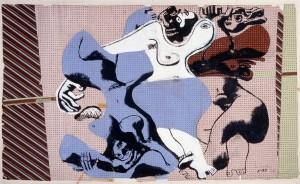 Le Corbusier, Trois nus féminins allongés, 1935, kolorierte Zeichnung, © VG Bild-Kunst, Bonn 2016/Fondation Le Corbusier