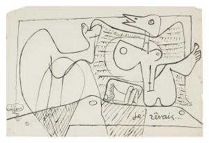 Le Corbusier, Je rêvais, 1960, Zeichnung, © VG Bild-Kunst, Bonn 2016/Fondation Le Corbusier