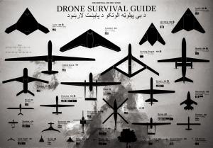 Ruben Pater Drone Survival Guide, 2014 Druck auf Aluminiumpapier, 72 x 102 cm © der Künstler