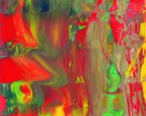 Gerhard Richter EIS, 1981 Entwurf für den Umschlag zu dem Künstlerbuch EIS, Lackfarbe auf Karton, 19,4 x 24,5 cm Sammlung Mario Pieroni, Rom © Gerhard Richter, 2016; Foto: Heinrich Miess, Köln