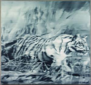 Gerhard Richter Tiger, 1965 Fotoverwischung, 140 x 150 cm Museum Morsbroich, Leverkusen © Gerhard Richter, 2016; Foto: dieterklein.de