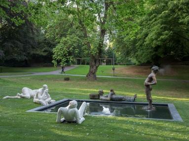 Nicole Eisenman, Sketch for a Fountain, © Skulptur Projekte 2017, Foto: Henning Rogge