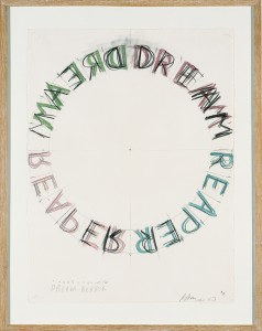 Bruce_Nauman__Dream_Reaper__1983__Aquarell_und_Bleistift_auf_Papier__c__VG_Bild-Kunst__Bonn_2017