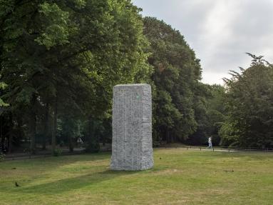 Lara Favaretto, Momentary Monument — The Stone, © Skulptur Projekte 2017, Foto: Henning Rogge