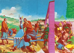 Neo Rauch, Die Kontrolle, 2010, 300x420 cm, privecollectie, Basel