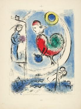 Marc_Chagall__Der_Hahn_ueber_Paris__1958__Farblithografie__c__VG_Bild-Kunst__Bonn_2018