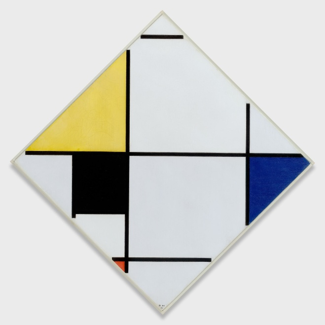 1957.307 - Lozenge Composition with Yellow, Black, Blue, Red,...